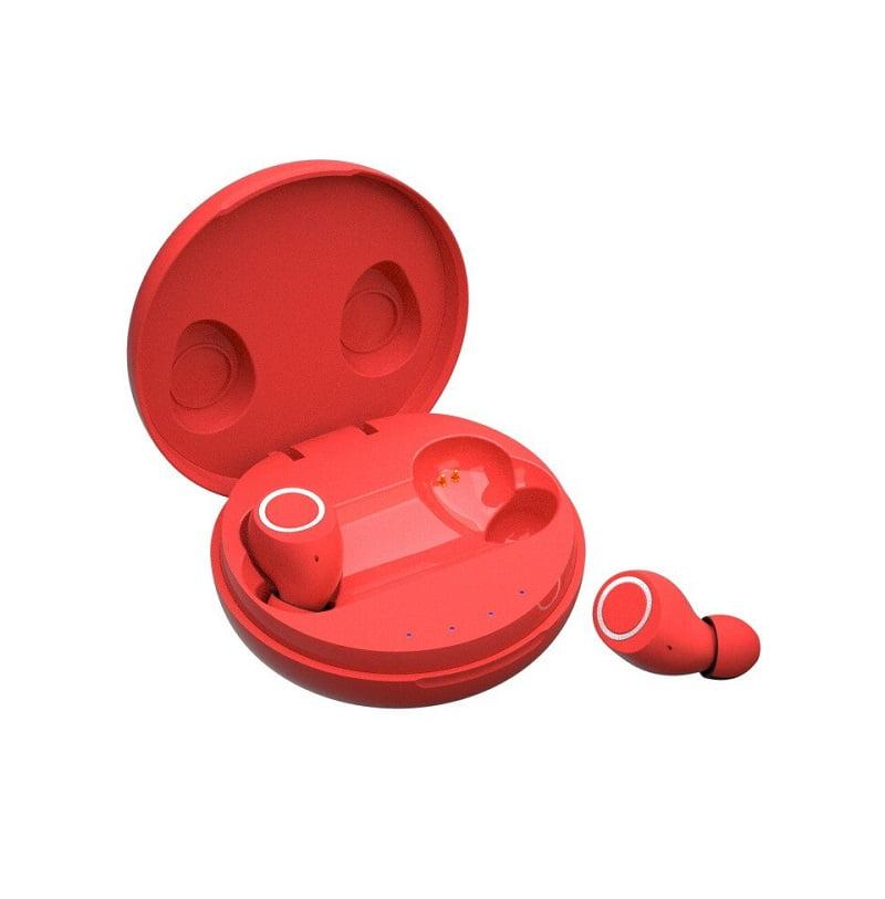 Ασύρματα ακουστικά με βάση φόρτισης - M6 Mini - TWS - Red
