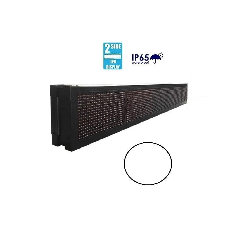 Πινακίδα LED – Διπλής όψης – Λευκή – 167cm×23cm