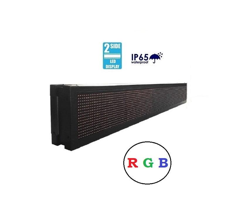 Πινακίδα LED – Διπλής όψης – RGB – 103cm×23cm