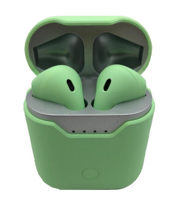 Ασύρματα ακουστικά με βάση φόρτισης – TWS – Q9L - Green