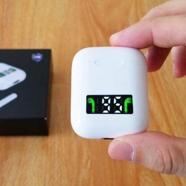 Ασύρματα ακουστικά με βάση φόρτισης και οθόνη – TWS – i99 - White
