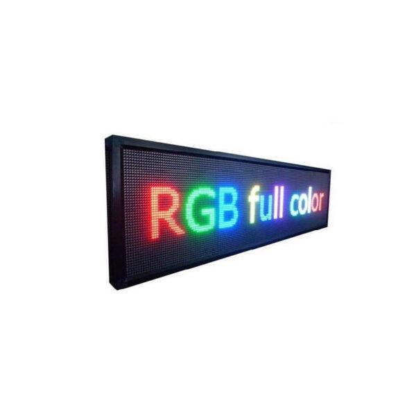 Πινακίδα LED – Μονής όψης – RGB – 103cm×40cm