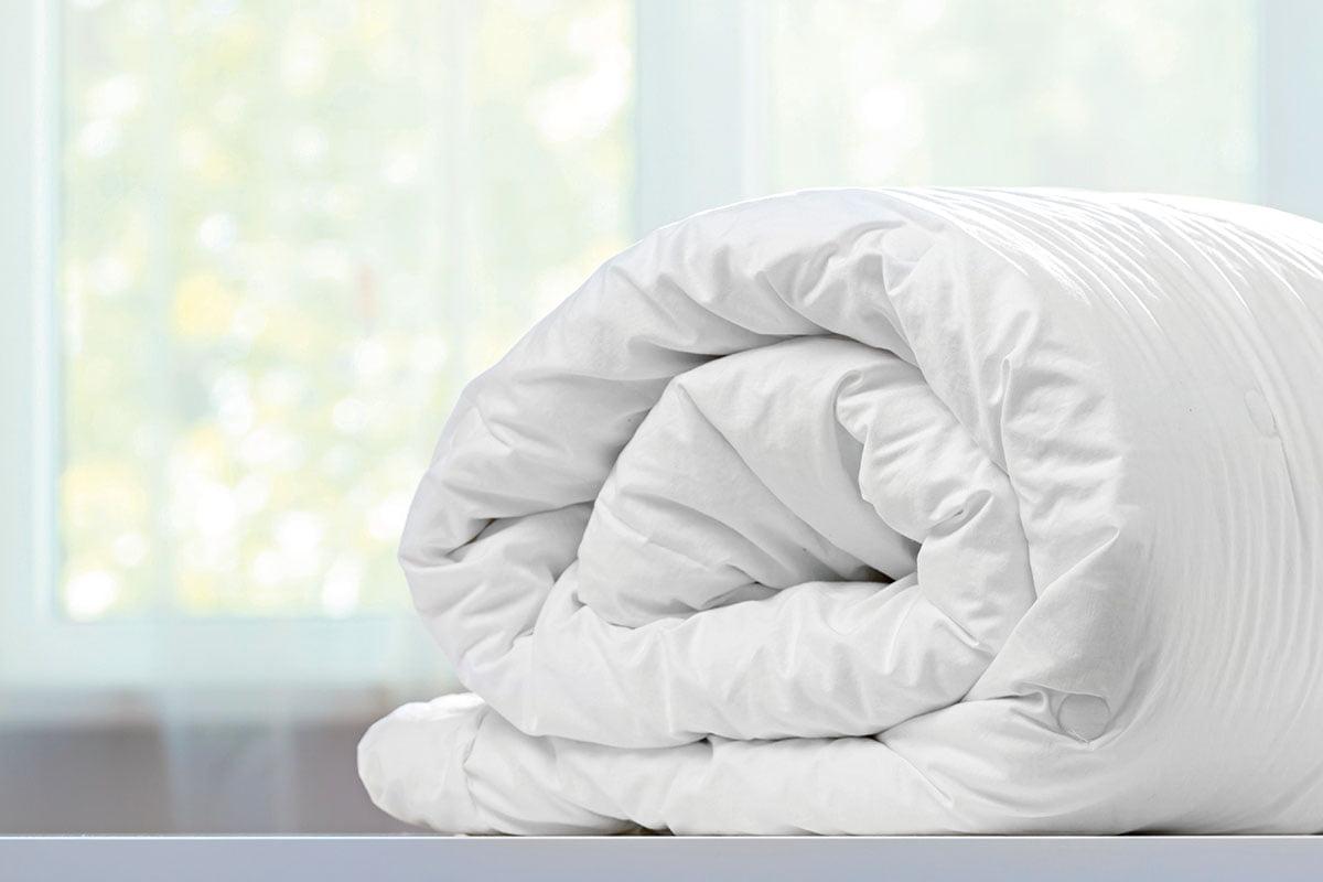 Πάπλωμα πουπουλένιο μονό  160x240  Λευκό Beauty Home