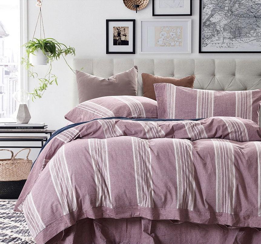 Σετ κουβερλί υπέρδιπλο Grooves Art 1612  220x240  Ροζ Beauty Home