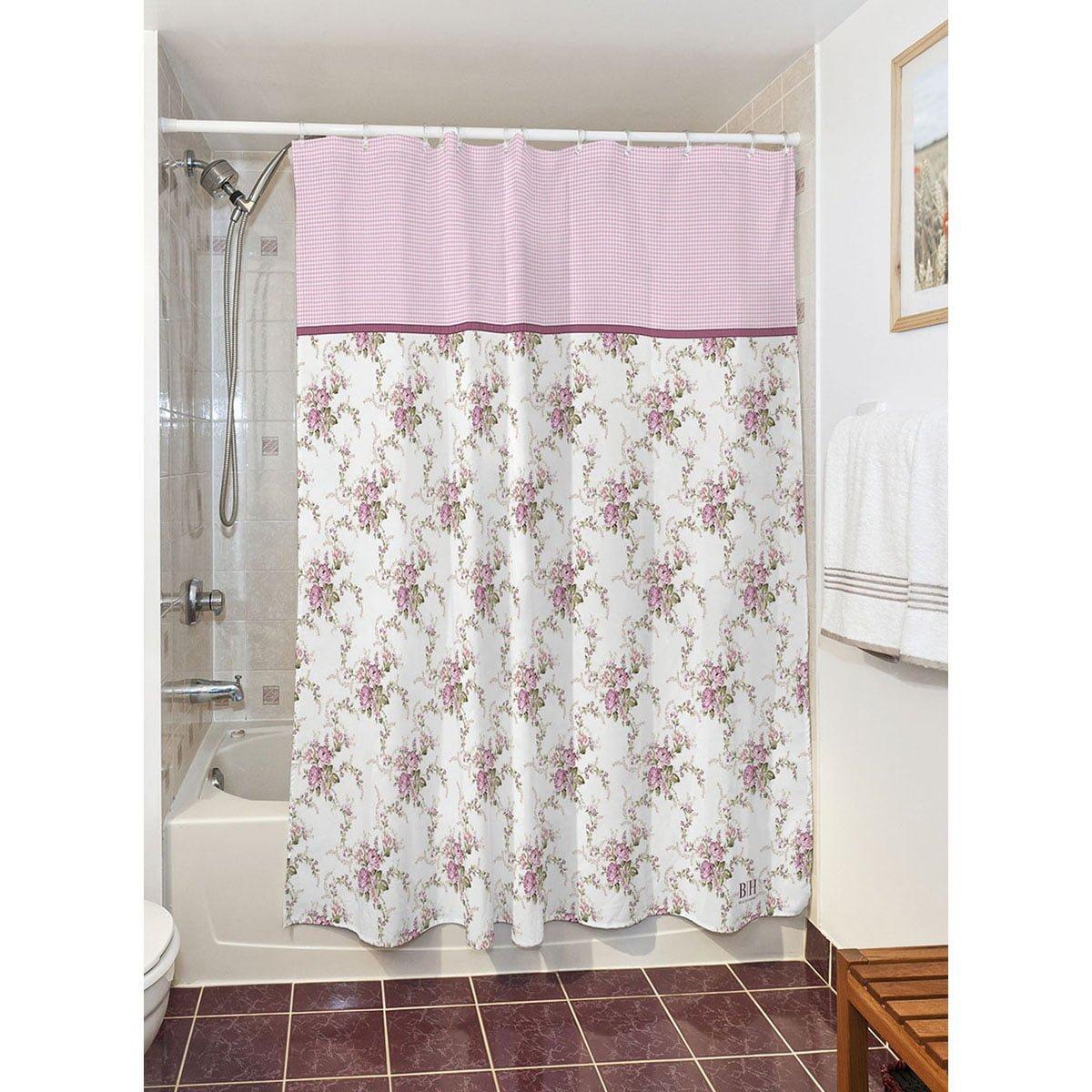 Κουρτίνα μπάνιου Bouquet Art 3240  190x180  Μωβ Beauty Home