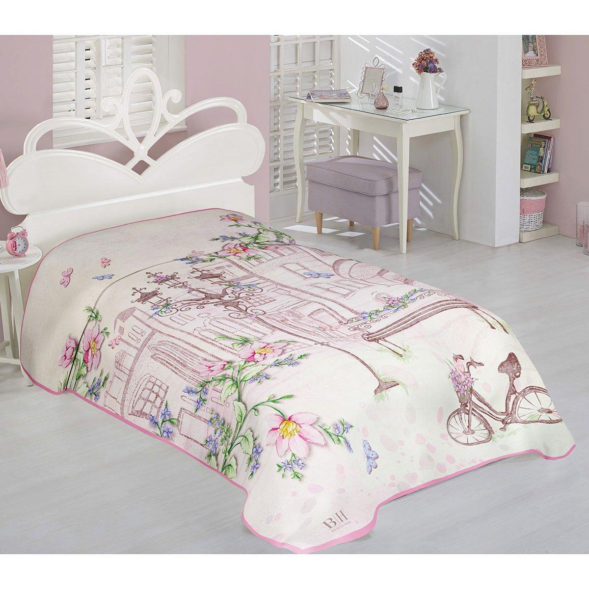 Κουβέρτα μονή Art 6107  160x220  Εμπριμέ Beauty Home