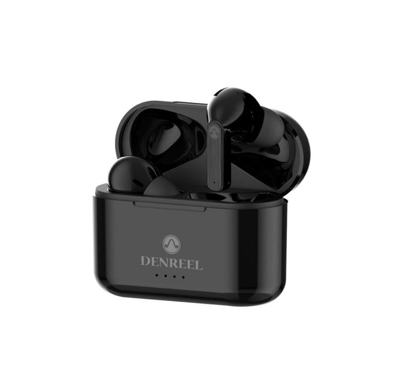 Ασύρματα ακουστικά με βάση φόρτισης - DR12 - TWS - Black