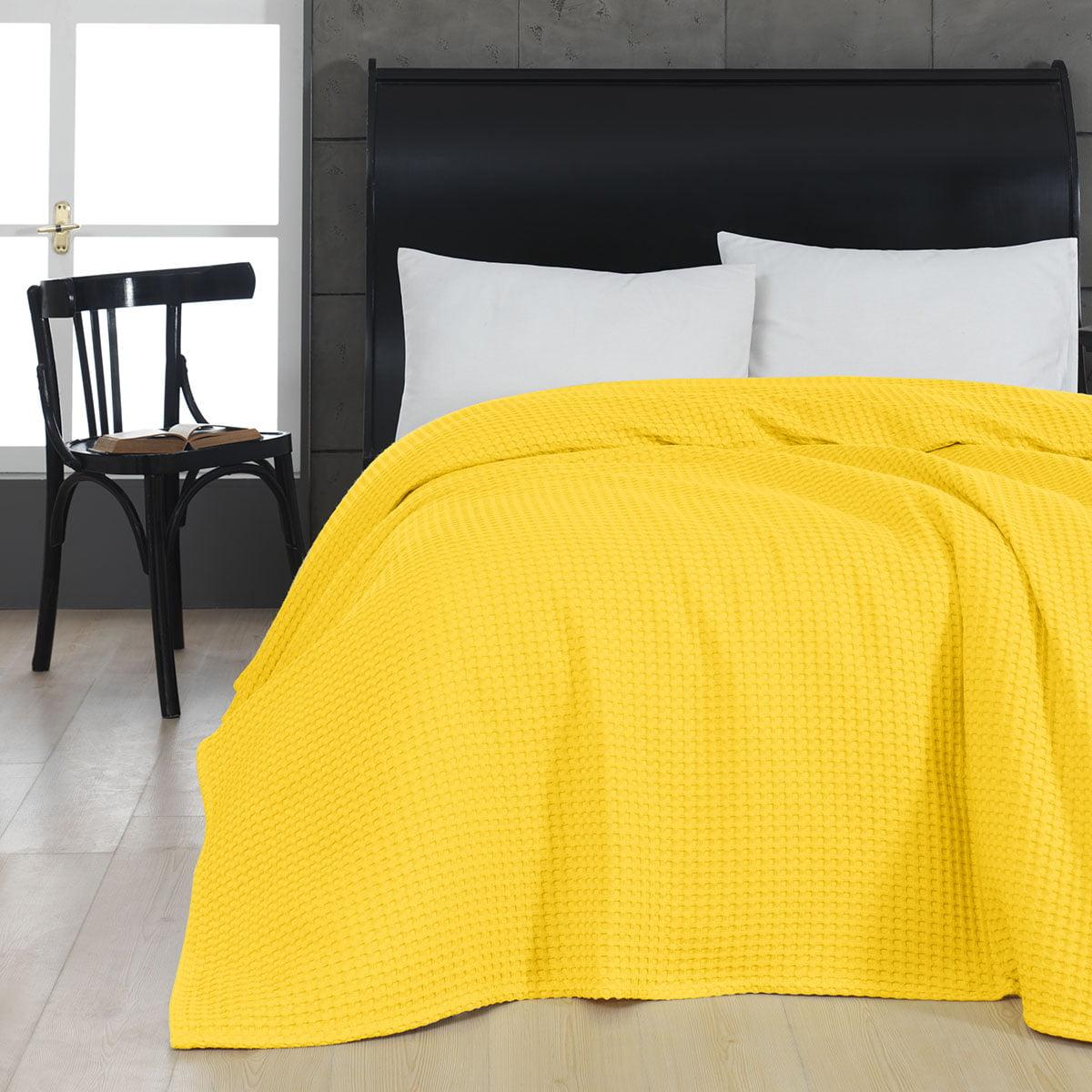 Πικέ μονή waffle Art 1990 Yellow  170x240 Κίτρινο Beauty Home