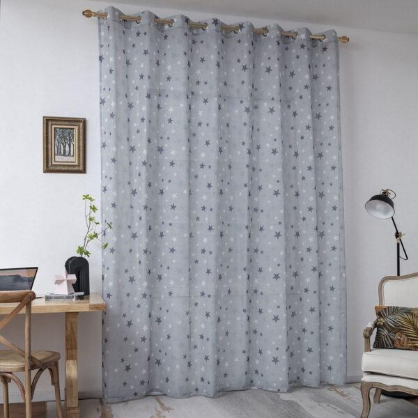 Κουρτίνα Art 6121  280x280  Γαλάζιο,Μπλε Beauty Home