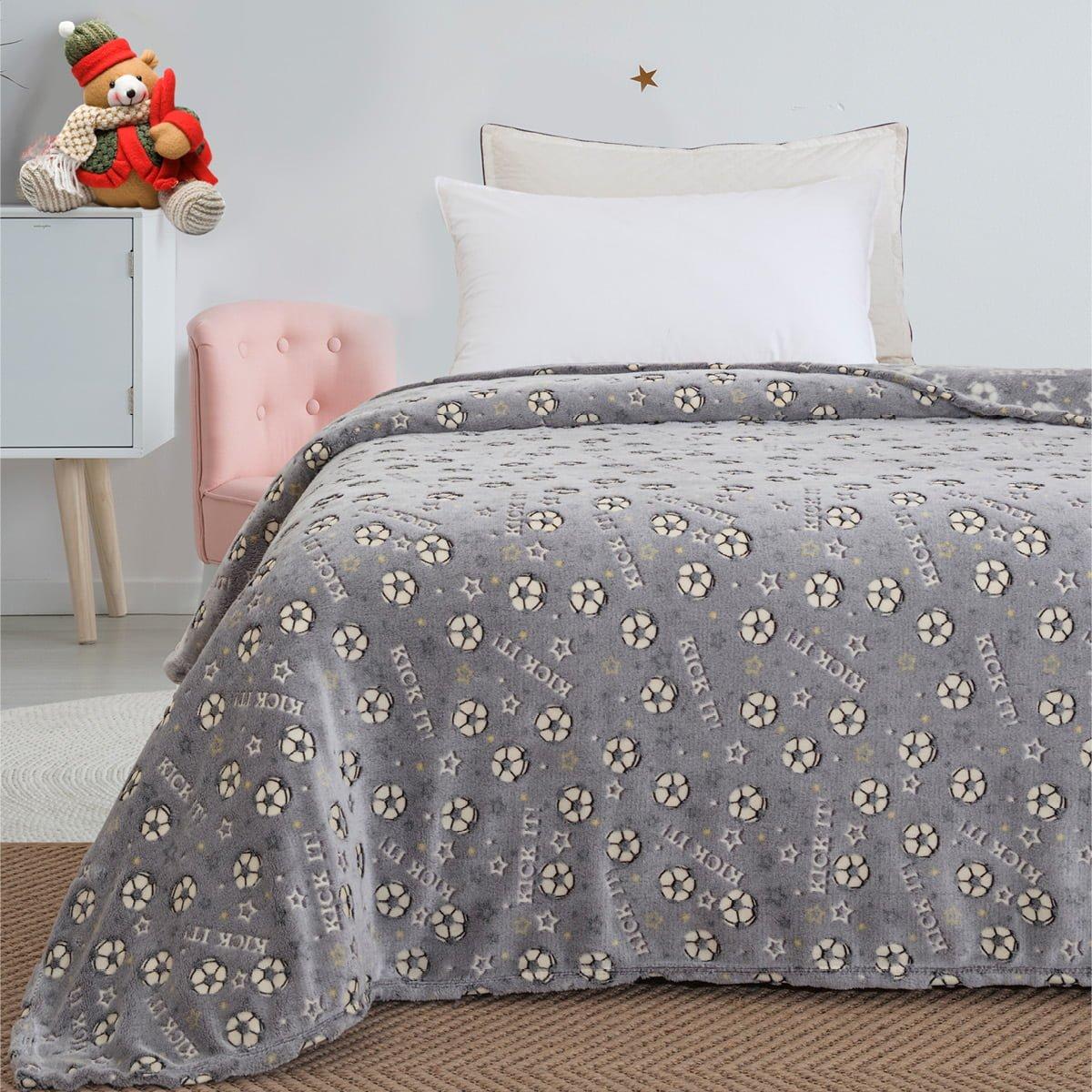 Κουβέρτα μονή φωσφορίζουσα Art 6127  160x220 Γκρι Beauty Home