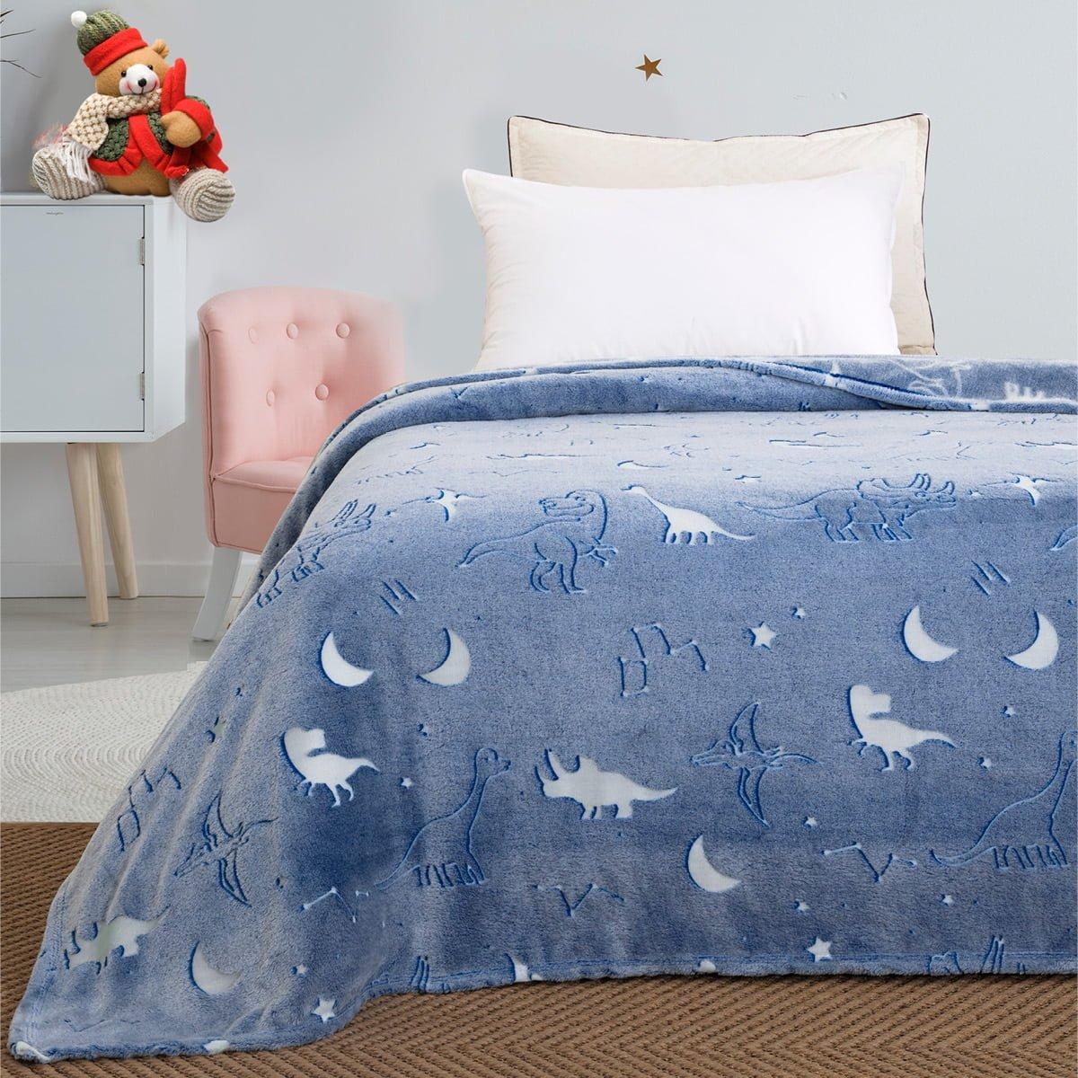 Κουβέρτα μονή φωσφορίζουσα Art 6128  160x220 Γαλάζιο Beauty Home