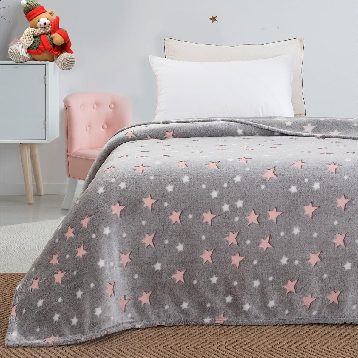 Κουβέρτα μονή φωσφορίζουσα Art 6129  160x220 Γκρι Beauty Home