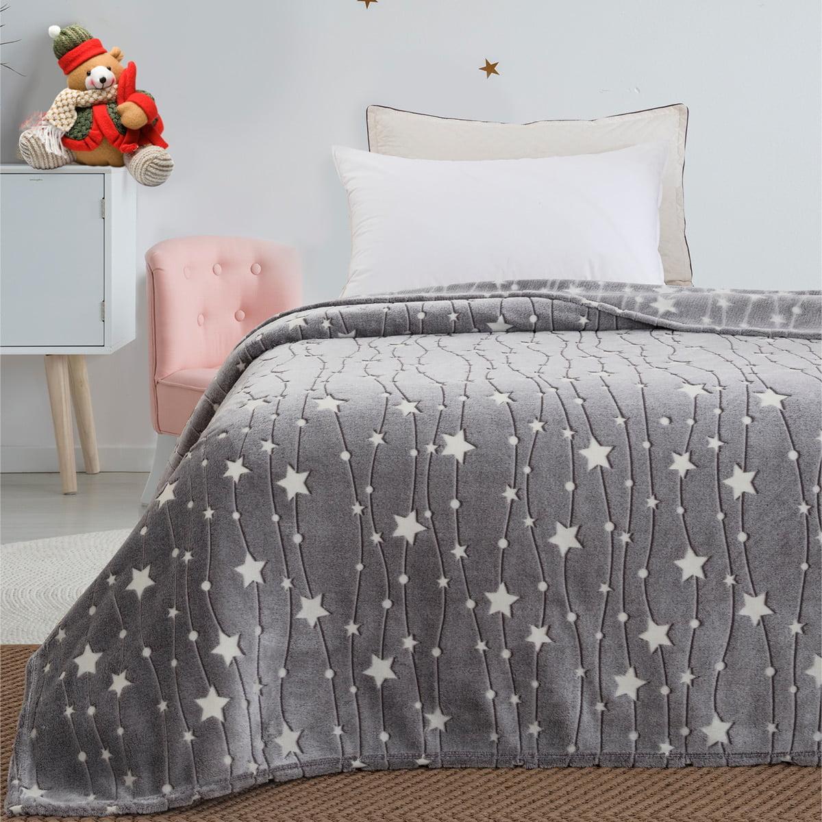 Κουβέρτα μονή φωσφορίζουσα Art 6136  160x220 Γκρι Beauty Home