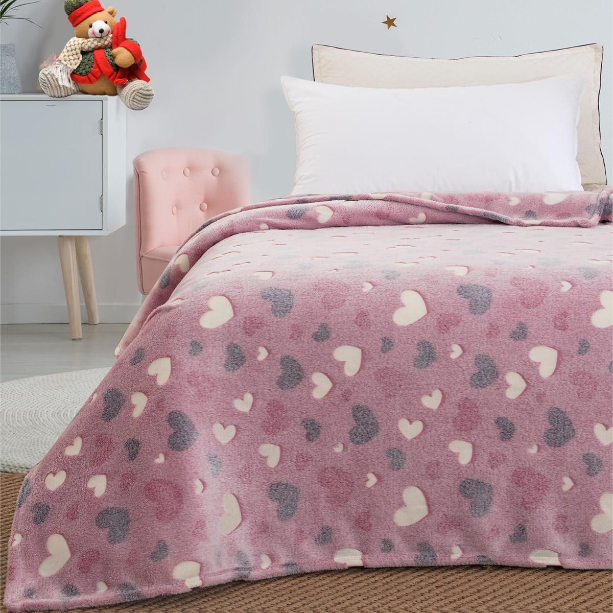 Κουβέρτα μονή φωσφορίζουσα Art 6137  160x220 Ροζ Beauty Home