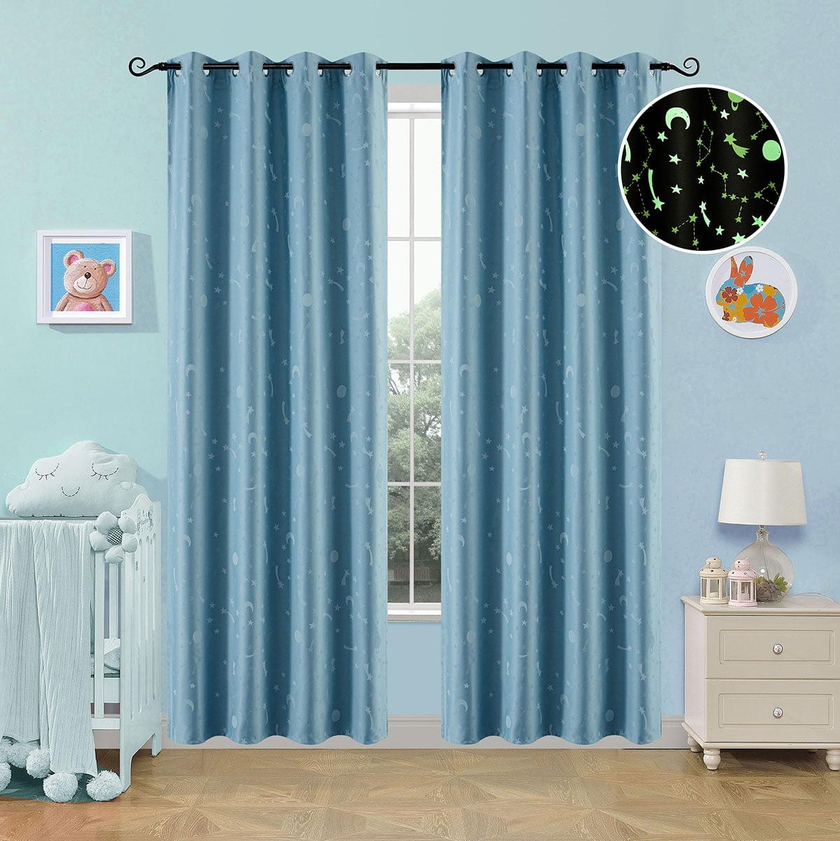 Κουρτίνα φωσφορίζουσα με 8 κρίκους Art 6140 σιέλ  140x260 Σιέλ Beauty Home