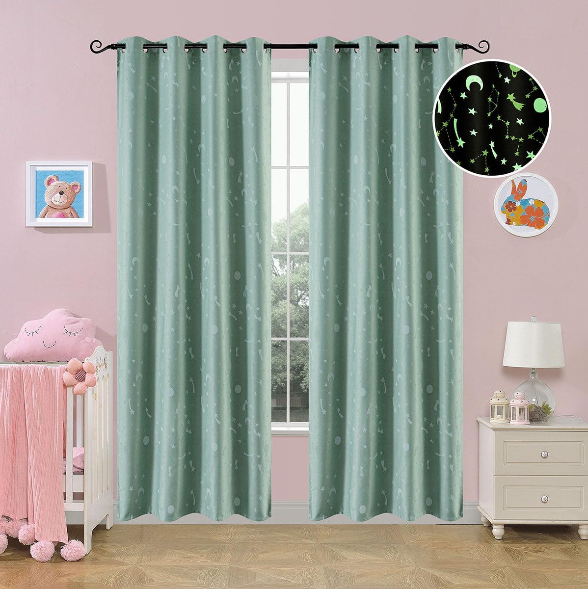 Κουρτίνα φωσφορίζουσα με 8 κρίκους Art 6140 μέντα  140x260 Μέντα Beauty Home