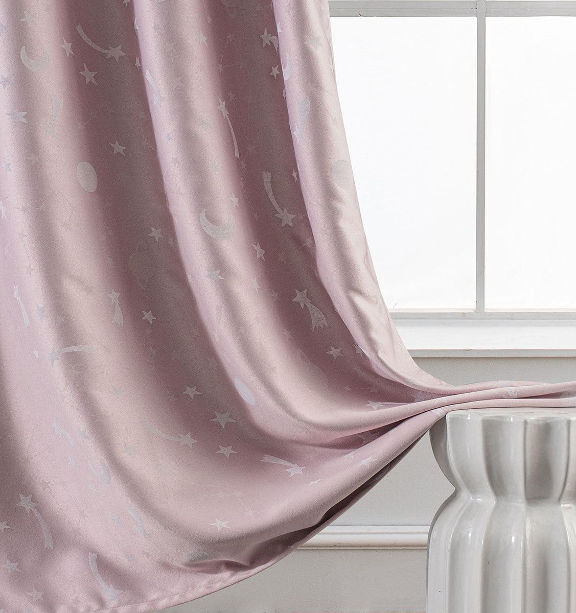 Κουρτίνα φωσφορίζουσα με 8 κρίκους Art 6140 ροζ  140x260 Ροζ Beauty Home