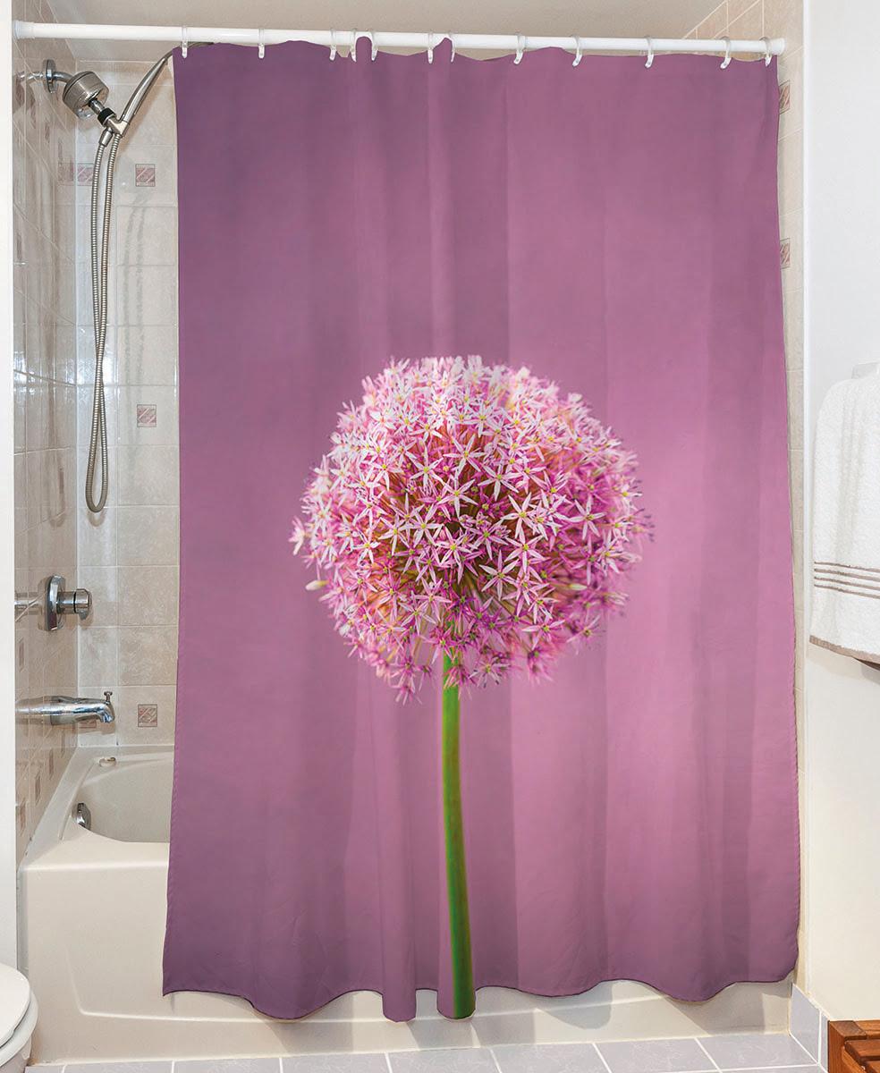 Κουρτίνα μπάνιου Smooth Art 3065 190x180 Μωβ Beauty Home