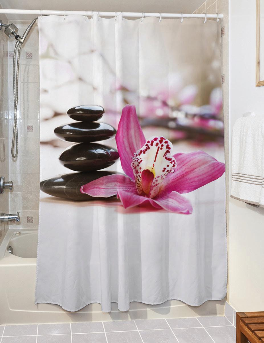 Κουρτίνα μπάνιου Peace Art 3129 190x180 Εμπριμέ Beauty Home
