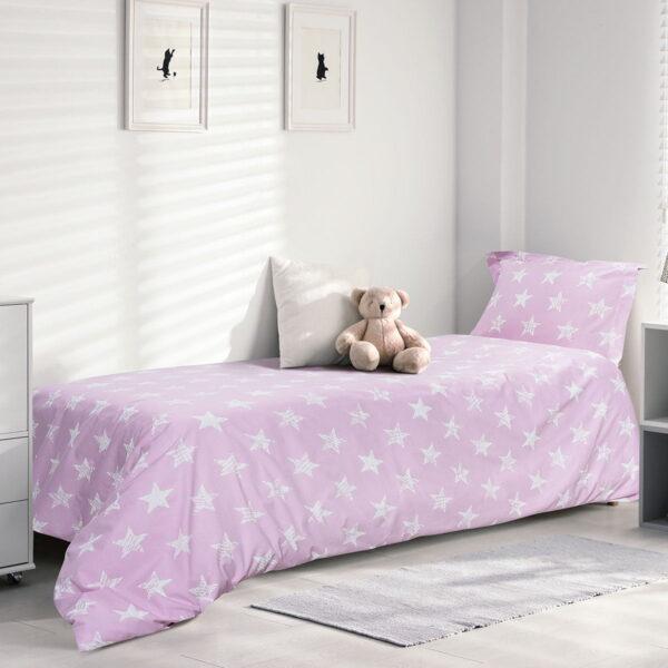 Σετ σεντόνια μονά φωσφοριζέ Melchior Art 6161 170x240 Ροζ Beauty Home
