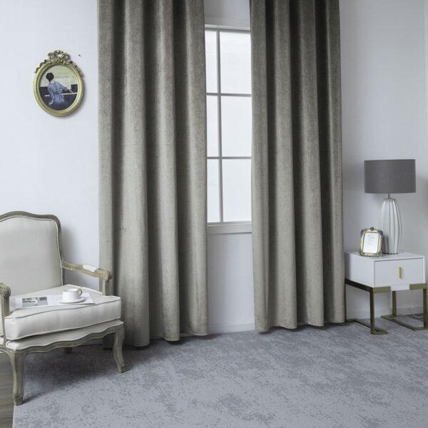 Κουρτίνα βελούδο σκίασης με 8 κρίκους Art 8399  140x270 Βιζόν Beauty Home