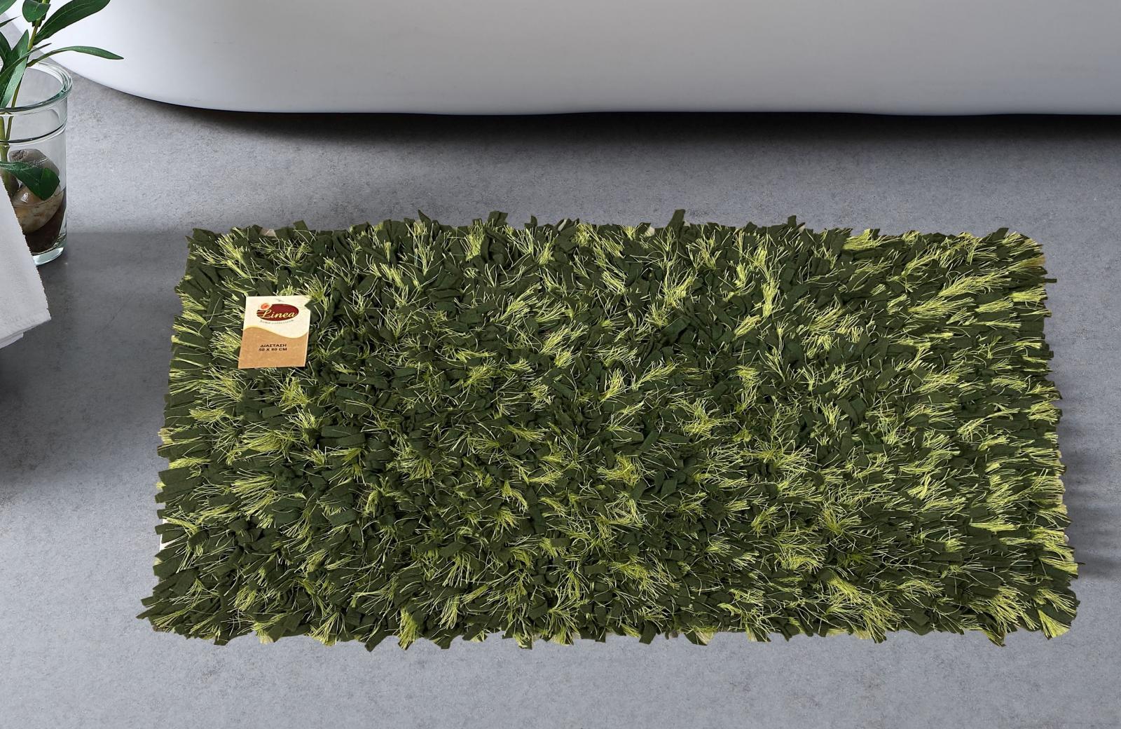 ΠΑΤΑΚΙ ΜΠΑΝΙΟΥ SHAGGY CHENILLE OLIVE GREEN 50Χ80 LINEAHOME