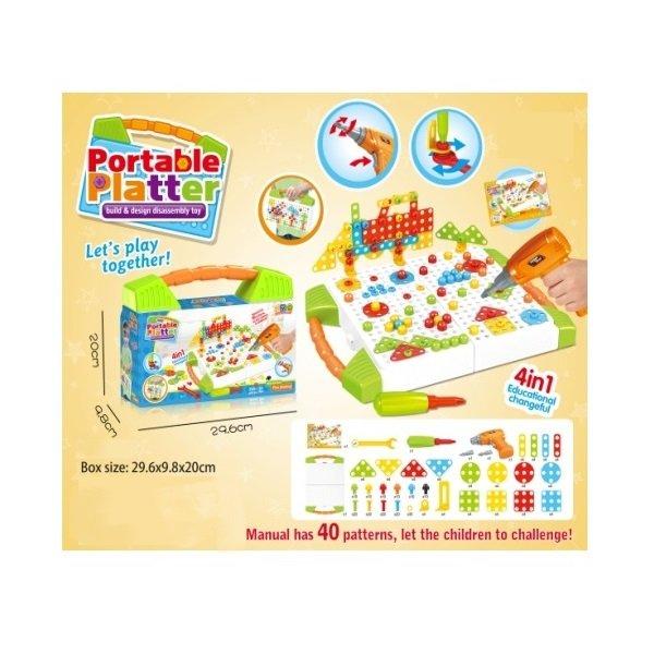 Επιτραπέζιο παιχνίδι κατασκευών - 673A - 036737
