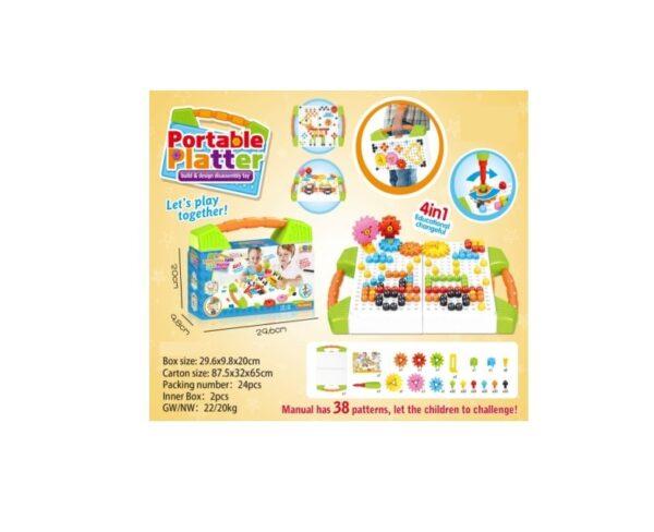 Επιτραπέζιο παιχνίδι κατασκευών - 674A - 036744