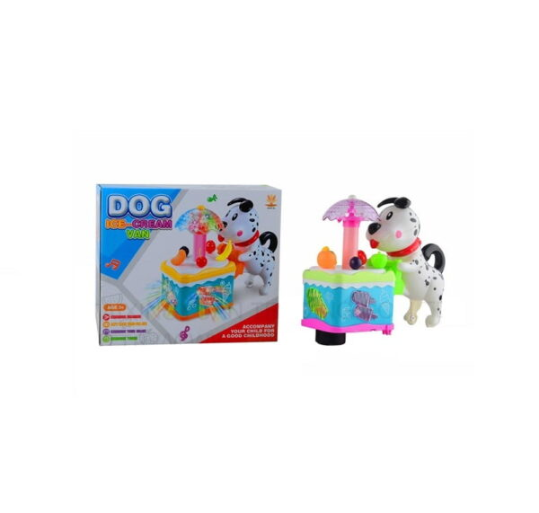 Βρεφικό παιχνίδι - παγωτατζίδικο με σκυλάκι - 3534A - 856990