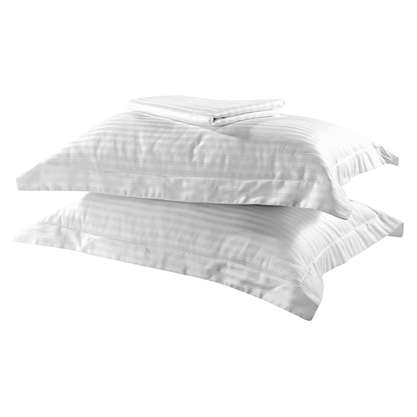 Σετ κουβερλί μονό Dobby Stripe Art 1381  160x240  Λευκό Beauty Home