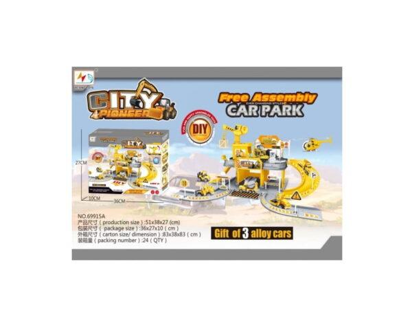 Παιδικό σταθμός πάρκινγκ με αυτοκινητάκια - 69915A - 646025
