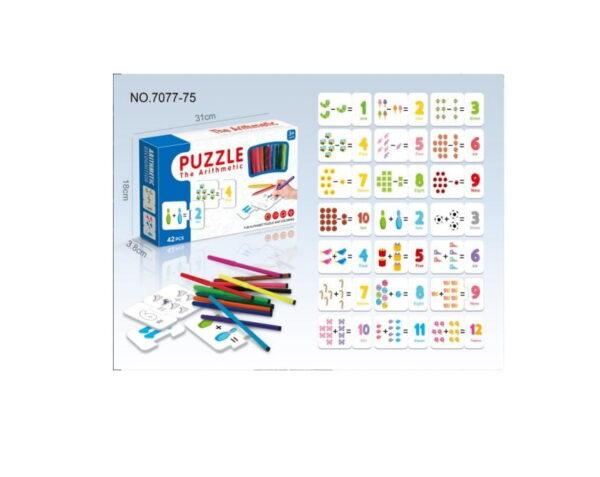 Παιδικό παζλ με γράμματα και αριθμούς - 7077-75 - 889990