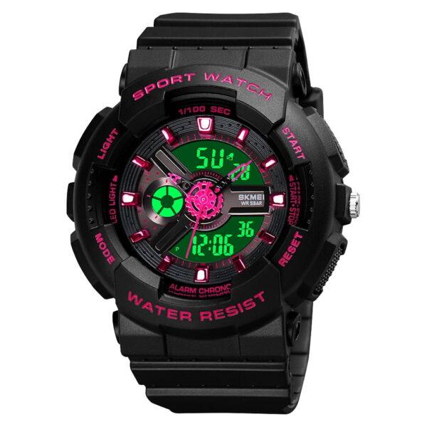 Ψηφιακό/αναλογικό ρολόι χειρός – Skmei - 1689 - Red