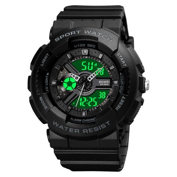 Ψηφιακό/αναλογικό ρολόι χειρός – Skmei - 1689 - Black