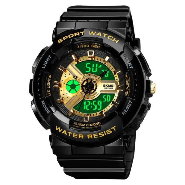 Ψηφιακό/αναλογικό ρολόι χειρός – Skmei - 1689 - Gold