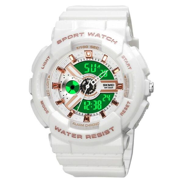 Ψηφιακό/αναλογικό ρολόι χειρός – Skmei - 1689 - White