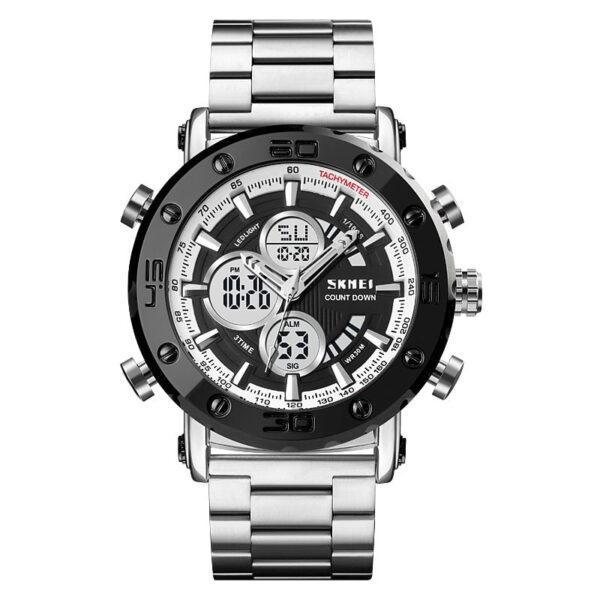 Ψηφιακό/αναλογικό ρολόι χειρός – Skmei - 1636 - Silver