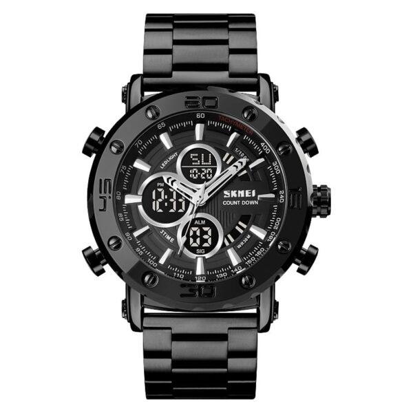 Ψηφιακό/αναλογικό ρολόι χειρός – Skmei - 1636 - Black