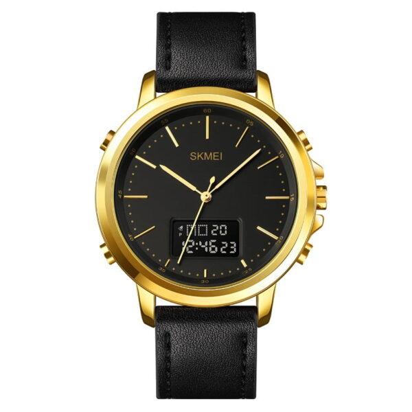Ψηφιακό/αναλογικό ρολόι χειρός – Skmei - 1652 - Gold