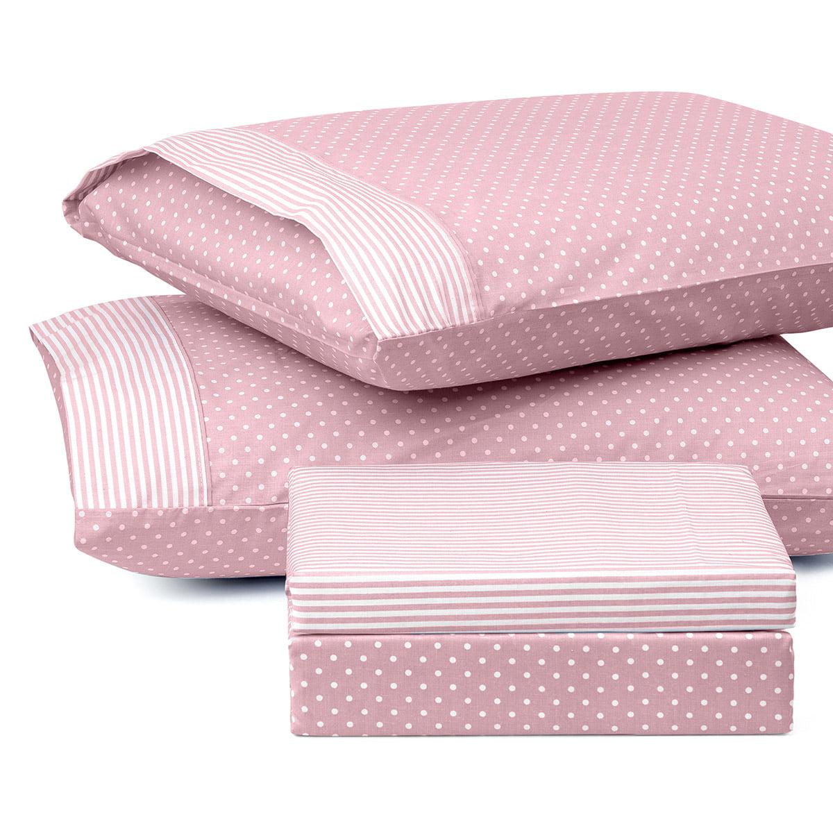 Σετ κουβερλί μονό πουά JOY Art 1680 160x240 Ροζ Beauty Home