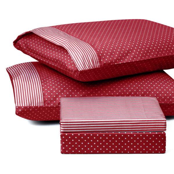 Ζεύγος μαξιλαροθήκες πουά JOY Art 1680 50x70 Κόκκινο Beauty Home
