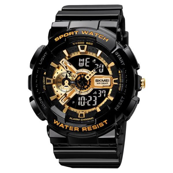 Ψηφιακό/αναλογικό ρολόι χειρός – Skmei - 1688 - Gold