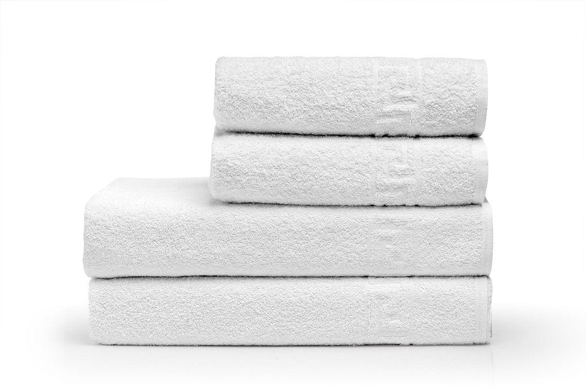 Πετσέτα Προσώπου Ξενοδοχείου Gentle 500gsm Greek Border 100% Cotton 50x95 Λευκό Beauty Home