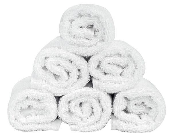 Πετσέτα Λαβέτα Ξενοδοχείου 500gsm Plain 100% Cotton 30x30 Λευκό Beauty Home
