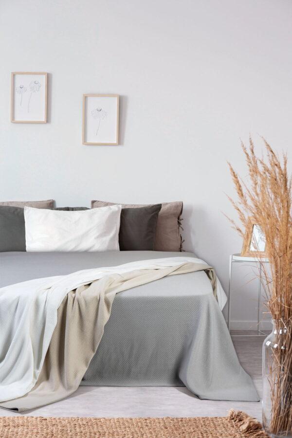 Πικέ κουβέρτα μονή Matelasse 170x280 Μπεζ Beauty Home
