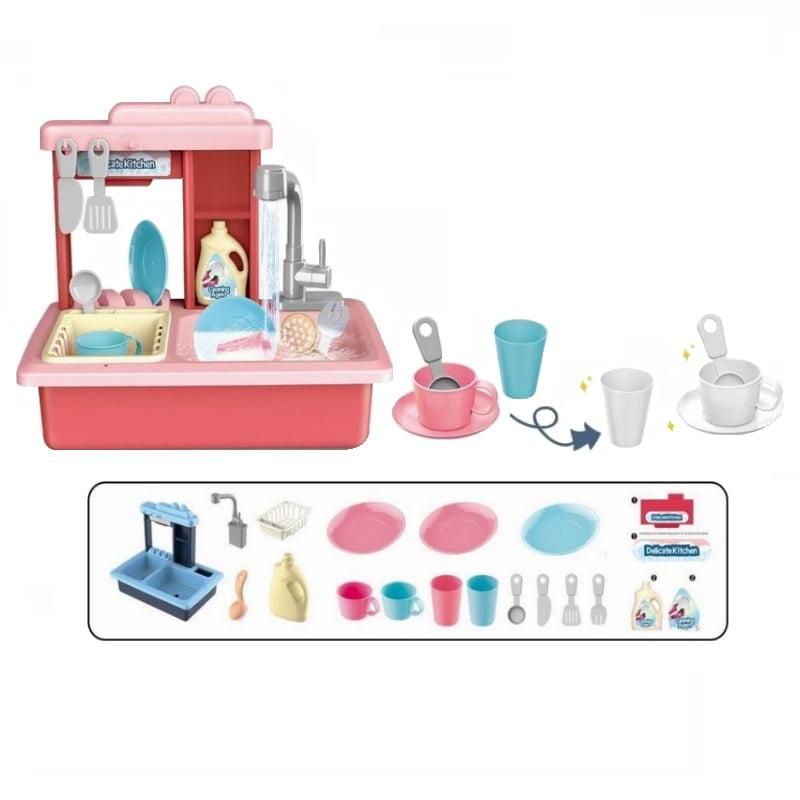 Σετ παιδικό πλυντήριο πιάτων με κουζινικά - 688-5 - 189106