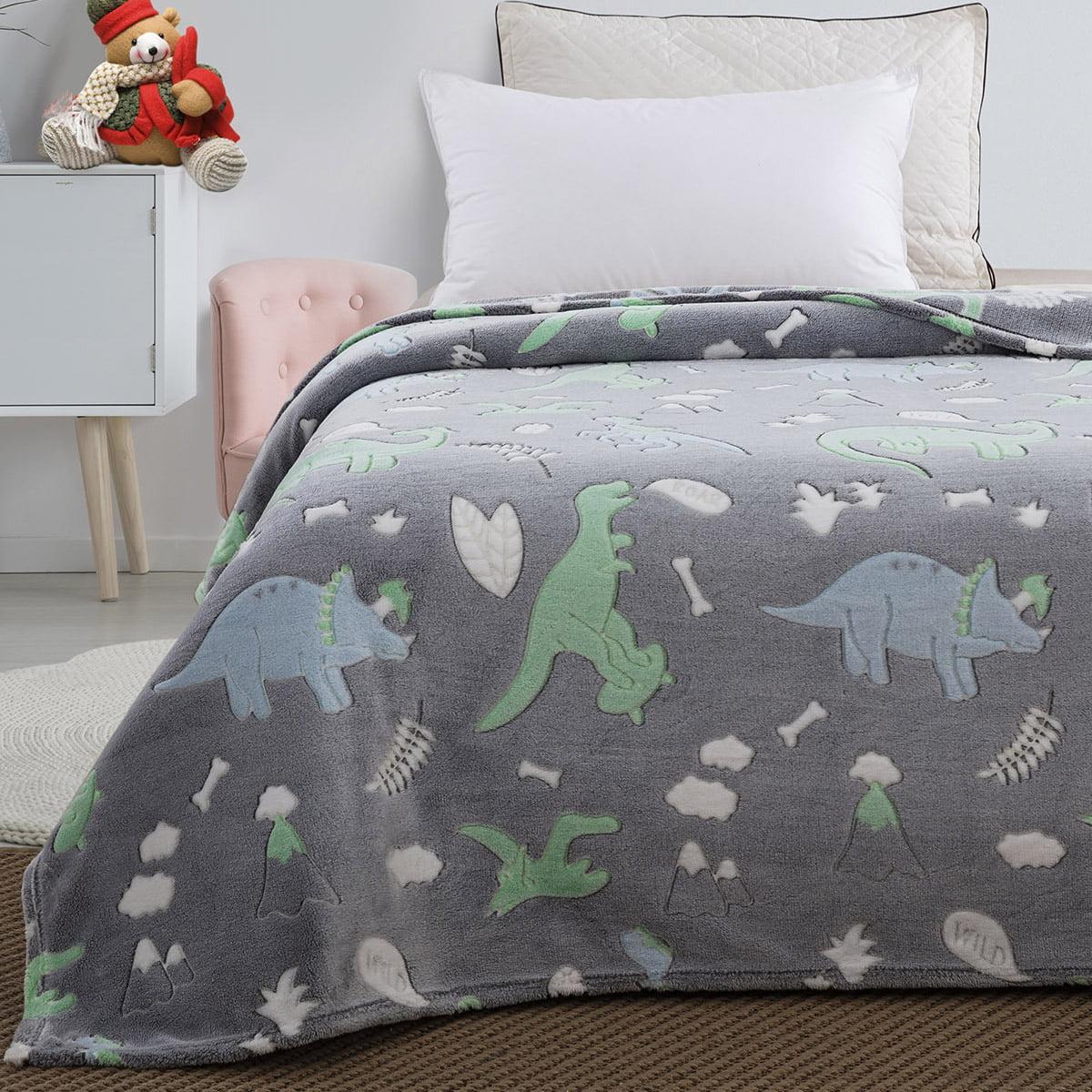 Κουβέρτα μονή φωσφορίζουσα Art 6145 160x220 Γκρι Beauty Home
