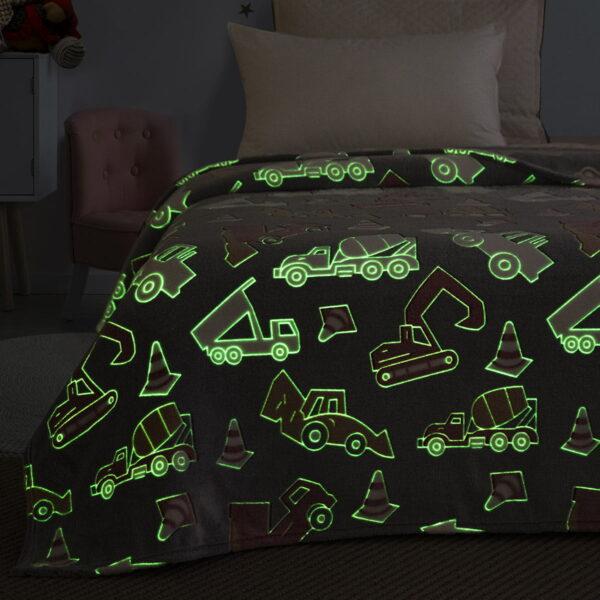 Κουβέρτα μονή φωσφορίζουσα Art 6147 160x220 Γκρι Beauty Home