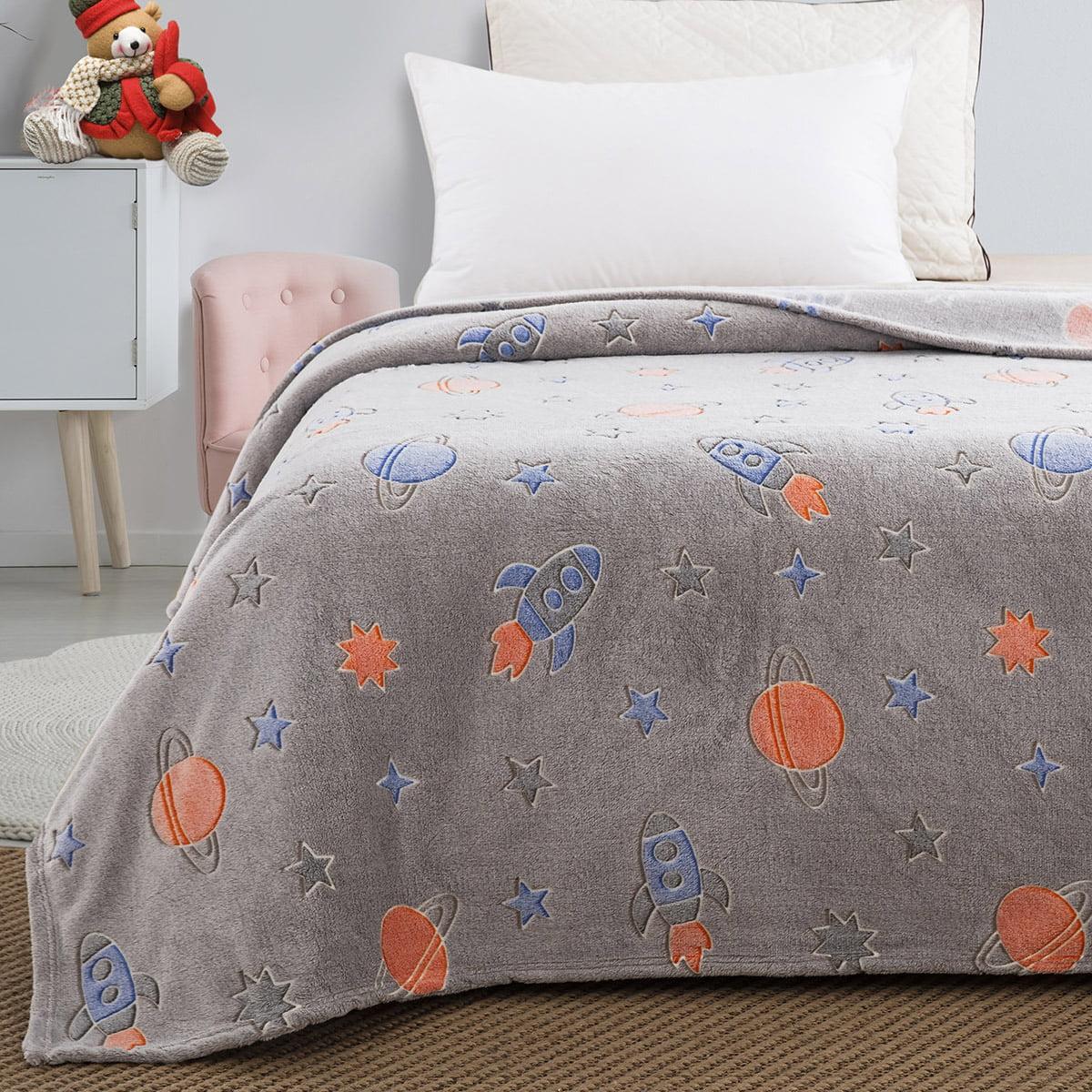 Κουβέρτα μονή φωσφορίζουσα Art 6149 160x220 Γκρι Beauty Home