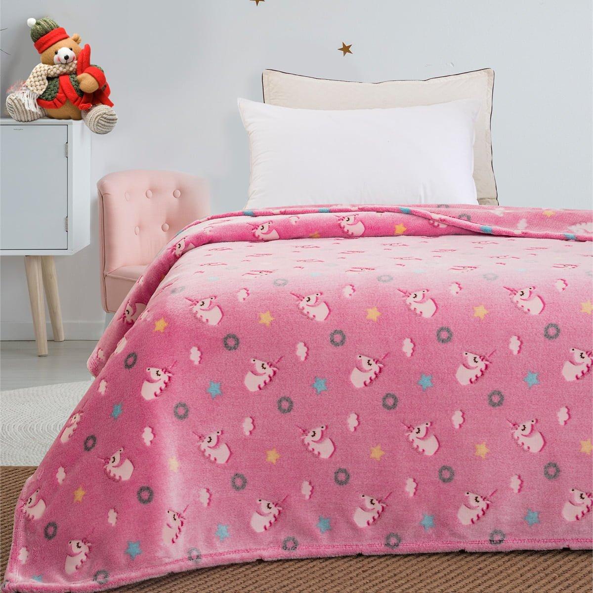 Κουβέρτα μονή φωσφορίζουσα Art 6093  160x220 Ροζ Beauty Home
